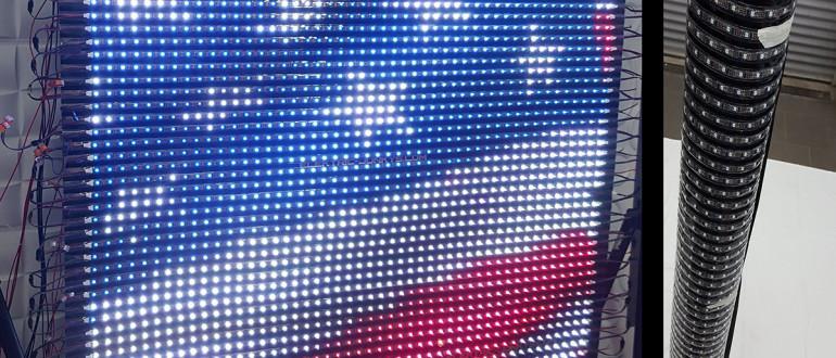 гибкий экран светодиодный