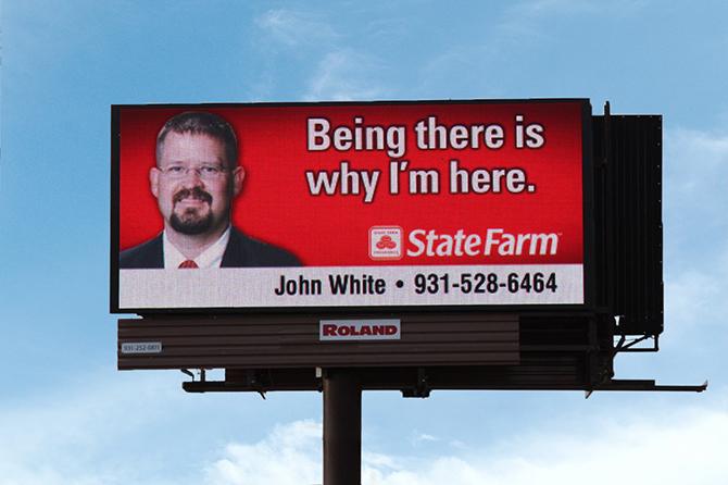 политическая реклама на большом светодиодном экране