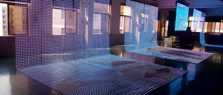 прозрачный светодиодный экран