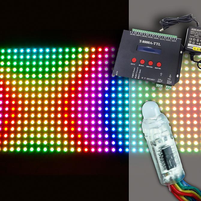 установка гибких светодиодных экранов