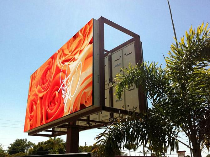 рекламный экран outdoor