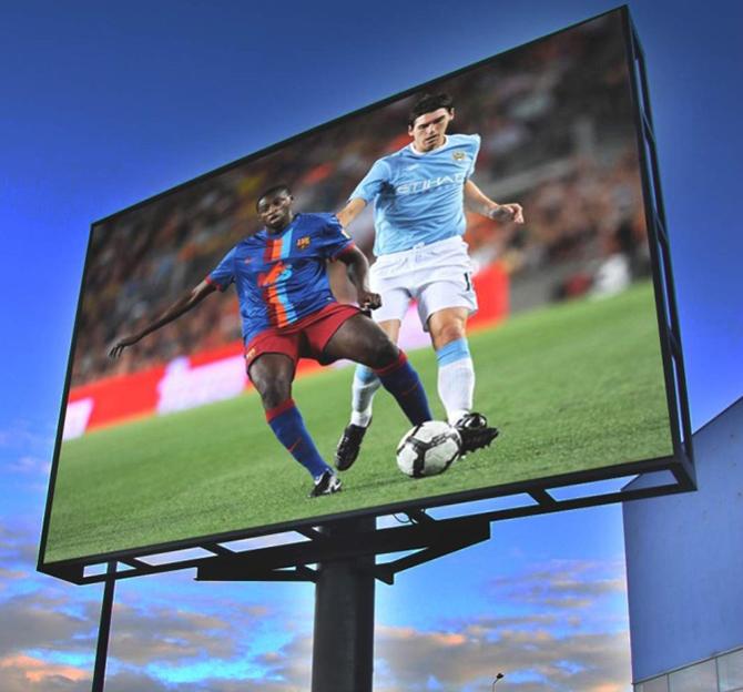 трансляции спортивных событий на светодиодных панелях