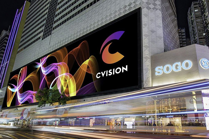 LED экран в городе