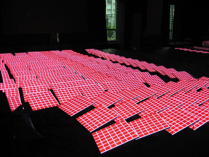 модули LED пола