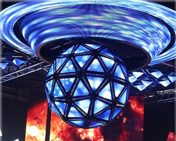 светодиодный шар необычной формы