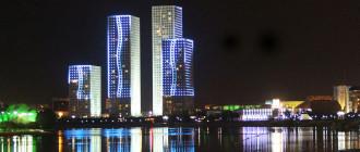 световое оформление фасадов зданий