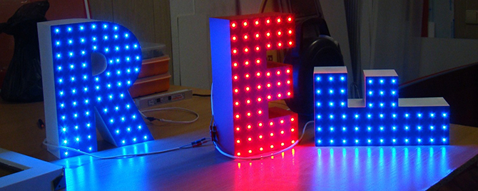 устройство светодиодной вывески