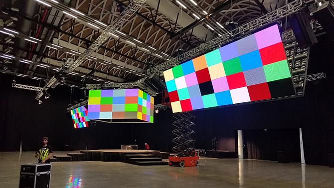 LED экраны необычной формы