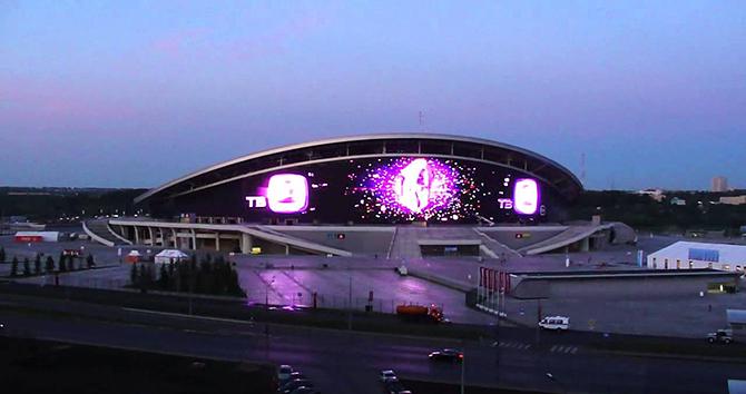 LED фасад для стадиона