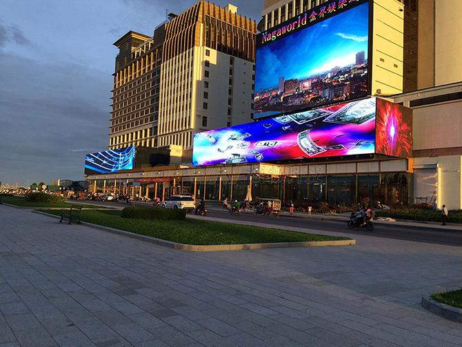 производитво светодиодных экранов в Китае