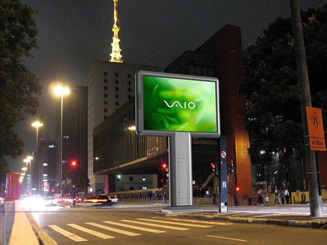 уличный рекламный дисплей