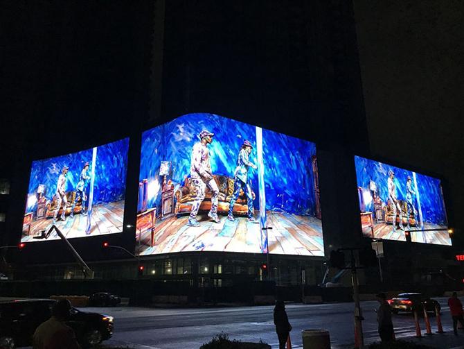 уличный светодидный экран